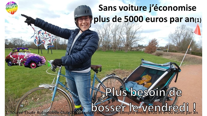AlterPub moins bosser en vélo mamuse