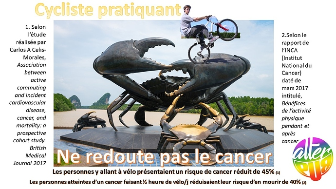 AlterPub Moins de cancer à vélo'